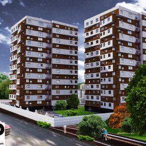 طراحی مجتمع مسکونی 56 واحدی (3 بلوک)
