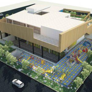 پروژه معماری طراحی مهد کودک