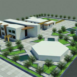 پروژه طراحی هنرستان 16 کلاسه