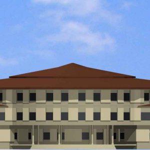 نمای-جنوبی پروژه طراحی دانشکده هنر و معماری